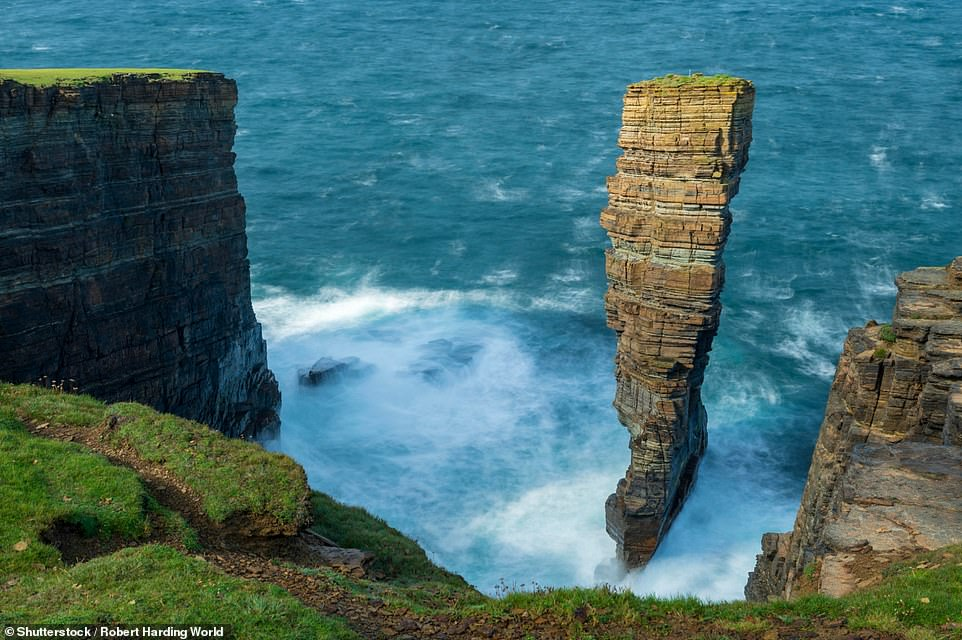 If you trek to the remote west coast of mainland Orkney in Scotland, you'll find North Gaulton Castle. This elegant sea stack is formed of red sandstone and towers 165ft (50m) above the water. In 2017 the tricky-to-navigate stack was successfully scaled by four climbers