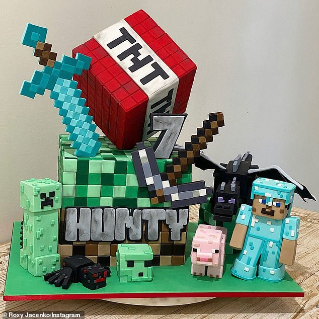 Yummy! There was also a 3D Minecraft cake built which featured several key characters and a TNT bomb