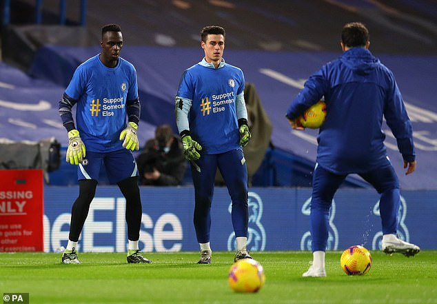Mendy says his relationship with Kepa Arrizabalaga (centre) is good - despite usurping him