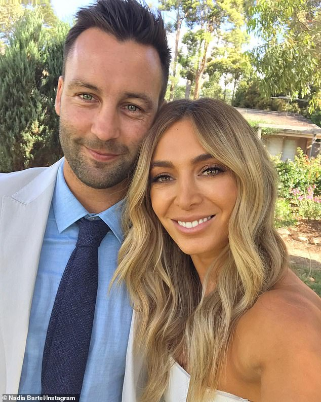 Ex factor: Nadia Bartel opened up about how she has moved on after her high-profile split from husband Jimmy Bartel in 2019. Photographed together