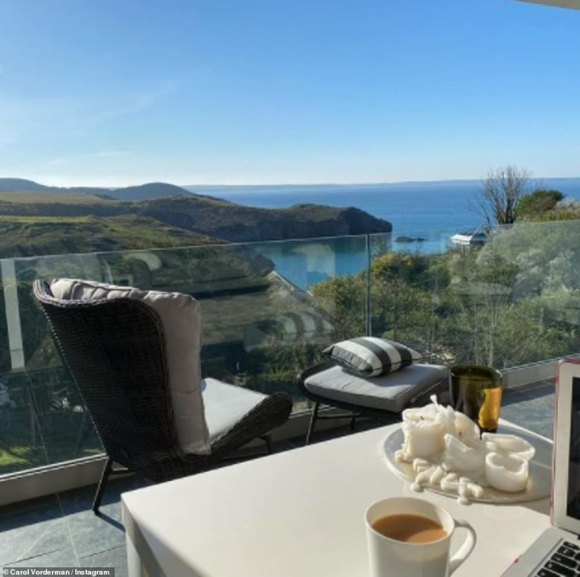 Alright for some! Carol recently shared updates from her lavish getaway toPembrokeshire, Wales