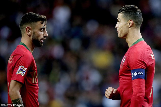 There will be plenty of expectation on Fernandes (left) and Cristiano Ronaldo (right) to deliver