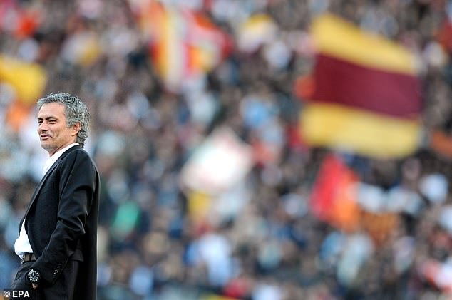 Mourinho (left) will be joining Conte in Serie A next season when he takes over at AS Roma