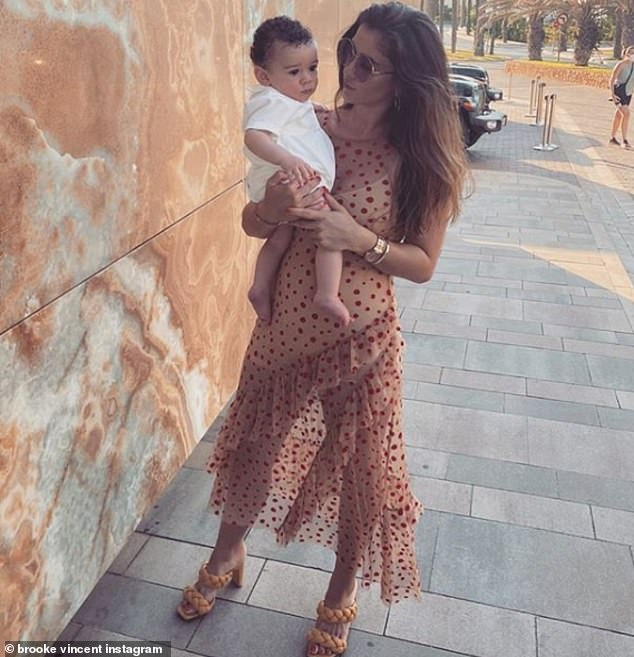 Priorities:Although Brooke left Coronation Street to have her son Mexx, now 18 months old, she never returned to the show and welcomed her second son Monroe last month