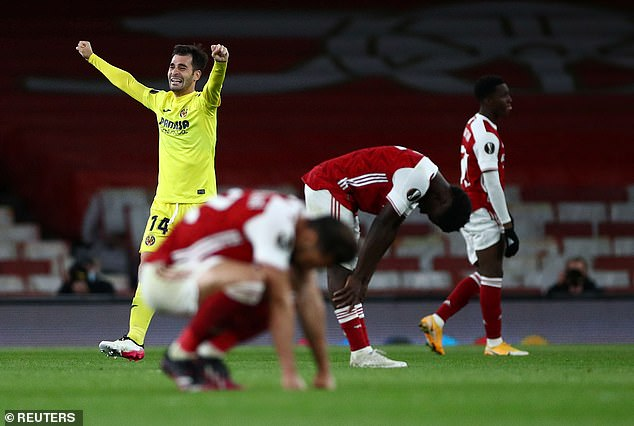 The Gunners drew 0-0 and exited 2-1 on aggregate at the hands of their former boss Emery