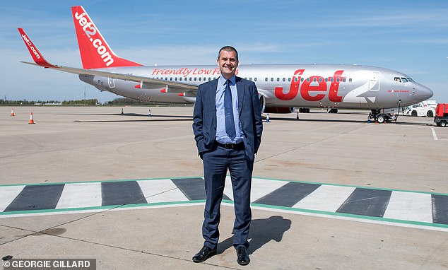 Steve Heapy (pictured), chief executive of the Jet2 airline, branded some competitors 'disgraceful' for taking too long to reimburse holidaymakers whose plans have been wrecked by the pandemic