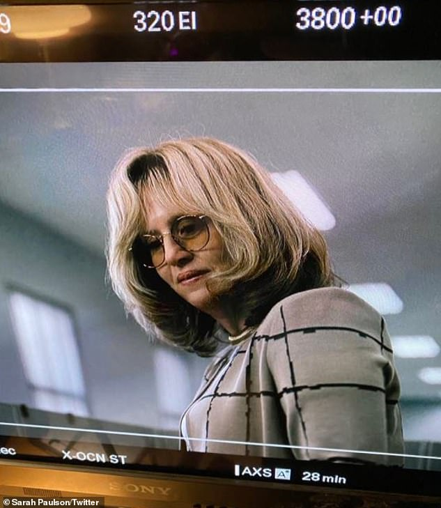 The 55-year-old showrunner continued: 'We talked a lot about how she has to keep it up for many many months until it's done shooting, so it's hard' (pictured November 13)