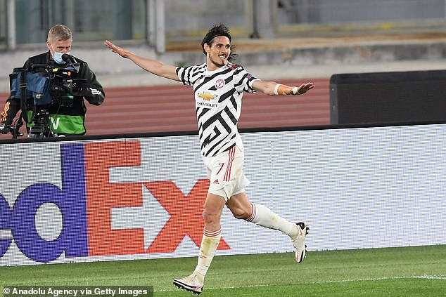 Cavani was in form on Thursday, scoring a brace to send United to the Europa League final