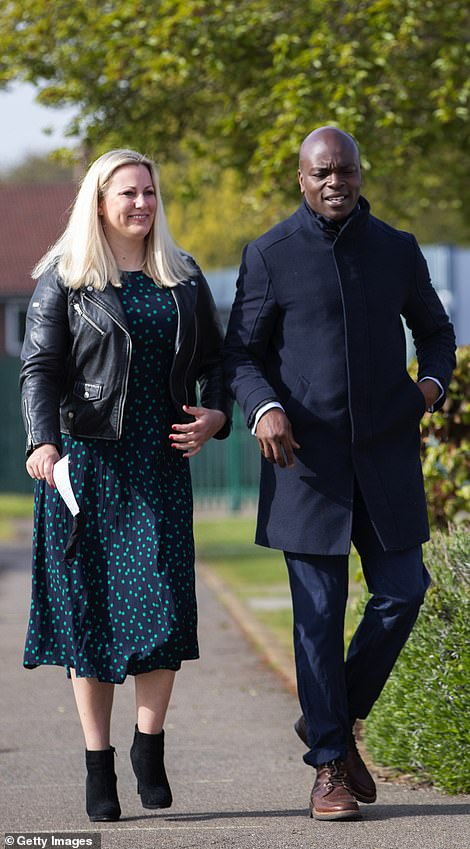 Shaun Bailey and his wife Ellie