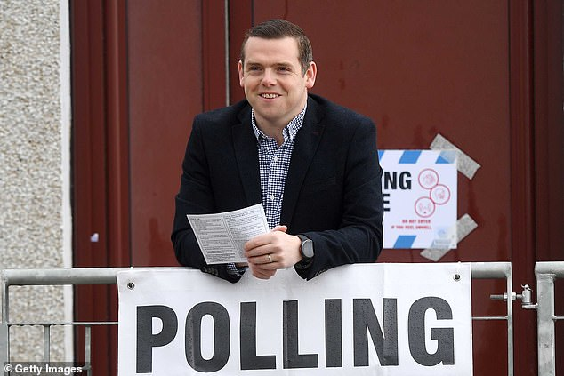 Opposition party leaders (Conservative Douglas Ross pictured) were confident that they had managed to mobilise the pro-Union vote to stave off the threat of separation from the rest of the UK