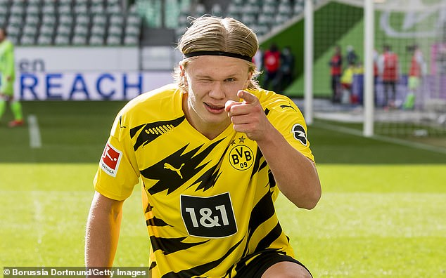 Borussia Dortmund's Erling Haaland is another striker set to be in serious demand this summer