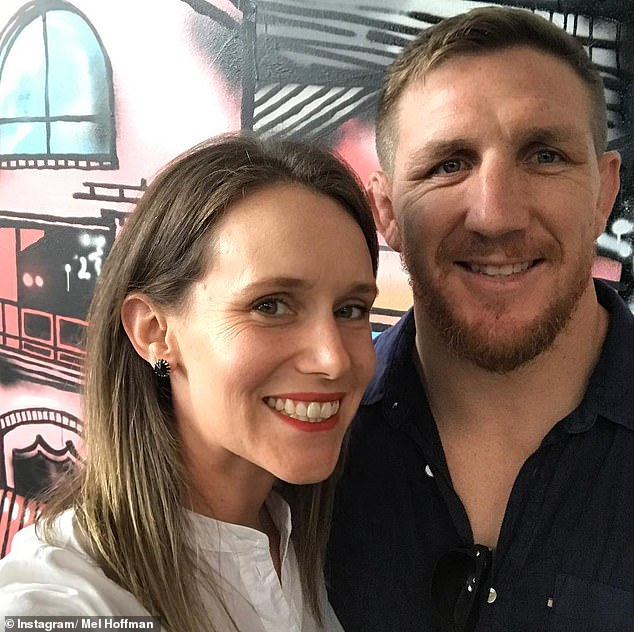 Relating:Mel Hoffman has revealed that she doesn't think WAGs Rebecca Judd and Nadia Bartel are all that relatable. Pictured with husbandRyan Hoffman