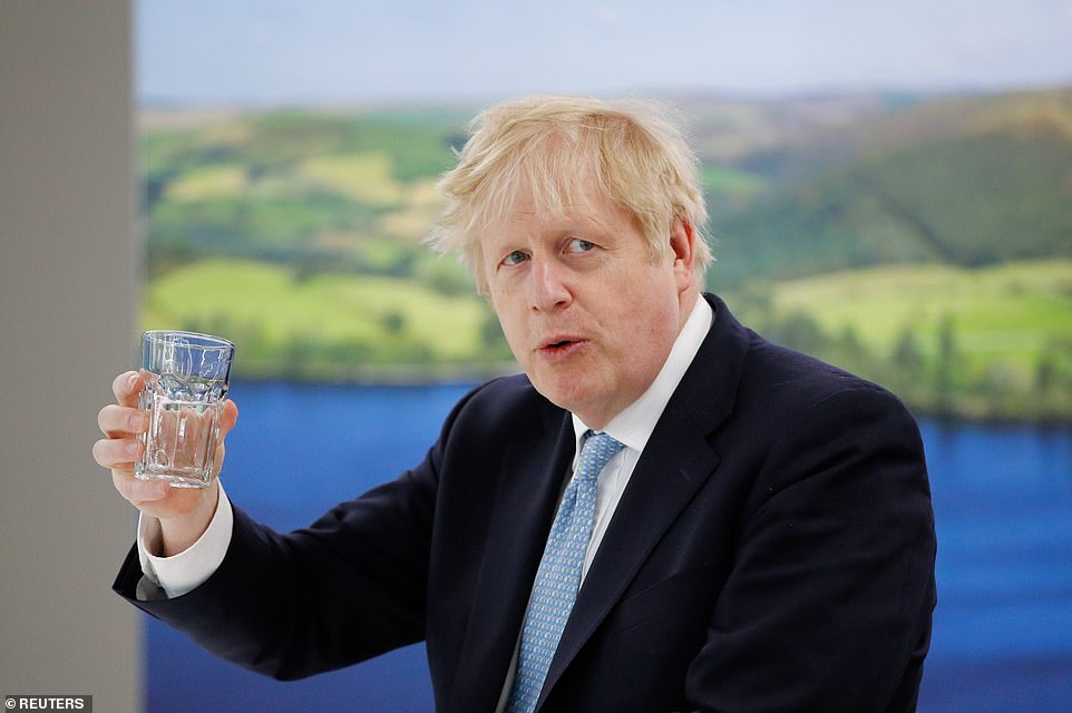 A jubilant Boris Johnson (pictured on a stop at Severn Trent Academy in Coventry on the way to Hartlepool) said he would keep fighting for the 'people's priorities' after he dealt another devastating hammer blow to the Red Wall