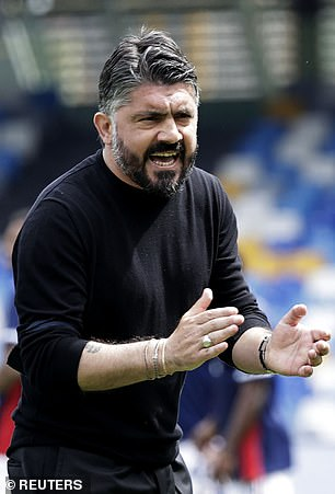 Napoli manager Gennaro Gattuso is expected to leave the club at the end of the season