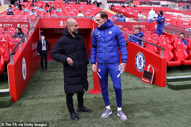 City boss Pep Guardiola (left) echoed Tuchel's comments in his press conference on Friday