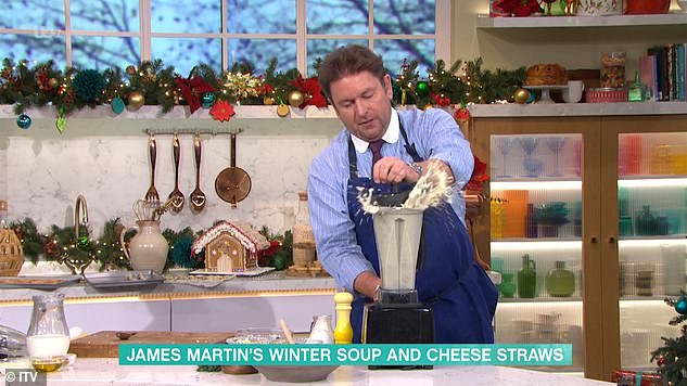 Oops!In November, James was left fuming on This Morning after the show descended into chaos as he tried to prepare a bowl of soup and cheese straws for the presenters