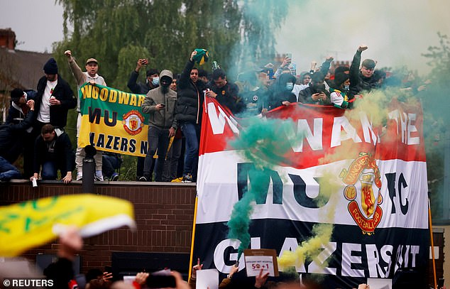 Angry protests against the Glazer family forced last Sunday's match with Liverpool at Old Trafford to be postponed