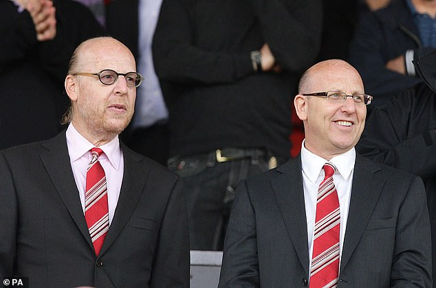 United owners Avram (left) and Joel Glazer pictured at Old Trafford for a match in 2010