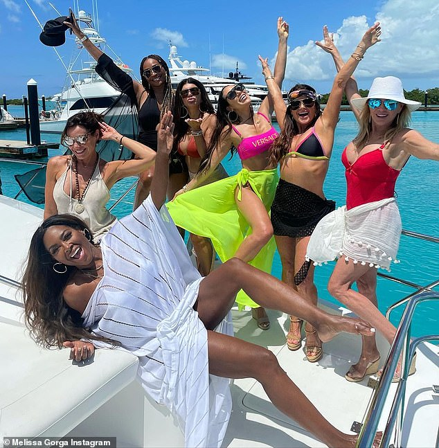 Girls trip!  Richards looked refreshed after vacationing in Turks and Caicos to film a Real Housewives all-star spin-off starring Luann de Lesseps, Ramona Singer, Melissa Gorga, Teresa Guidice, Kenya Moore and Cynthia Bailey