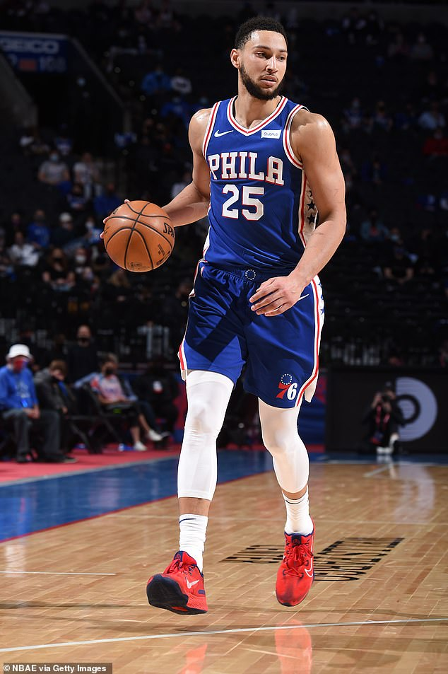New flame: Maya recently 'flew to Philadelphia' to spend time with Australian basketball player Ben Simmons, 24, according to reports (Ben pictured in the field in 2019)
