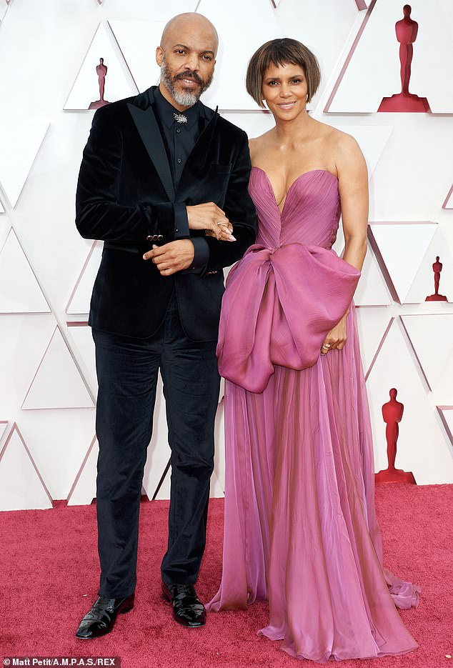 Former Flames: Before starting dating Hunt, Berry married three times and shares two children with one of her former husbands and ex-boyfriend Gabriel Aubry;  the actress and her current boyfriend are seen at the 93rd Academy Awards last month