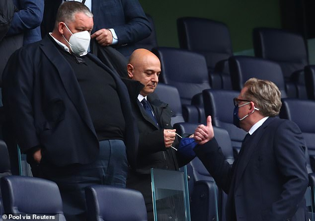 Spurs chief Daniel Levy decided to delay paying back the loan before joining the Super League