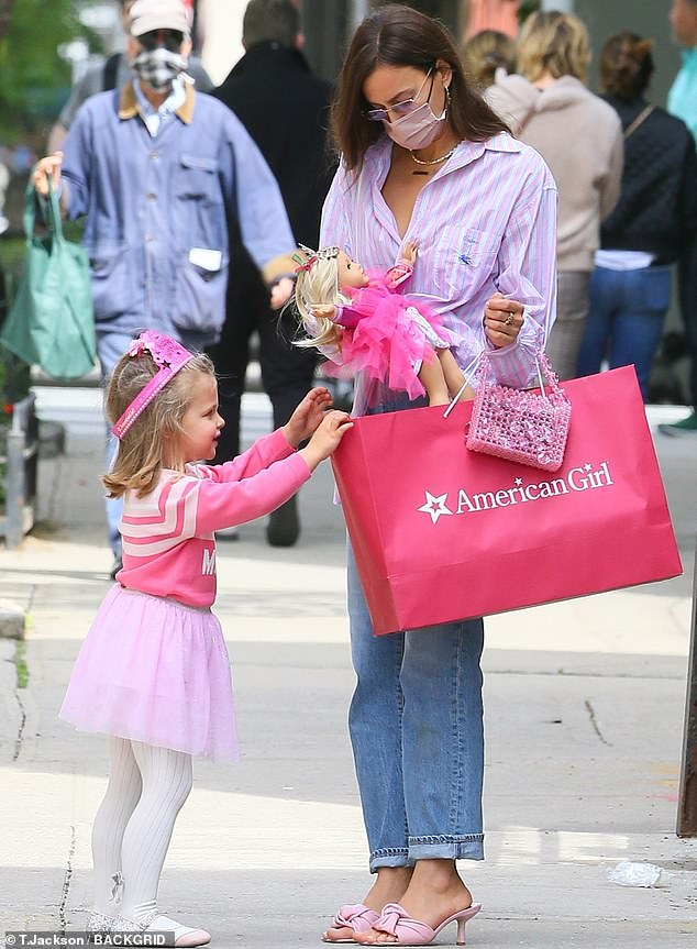 Best Gift: The 35-year-old Russian model, who shares Lea with her ex Bradley Cooper, was seen taking her to buy an American Girl doll