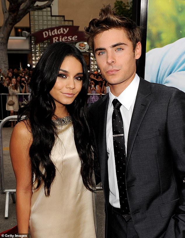 Third wheel: Drew also brought up a moment when she played third wheel on a date between Vanessa and her ex-boyfriend Zac Efron, 33; here in 2010