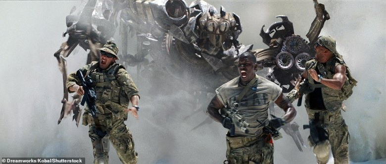 Bumblebee was a fan favorite from the first Transformers film in 2007, which featured Tyrese: Seen here (center) withLuis Echagarruga and Amaury Nolasco