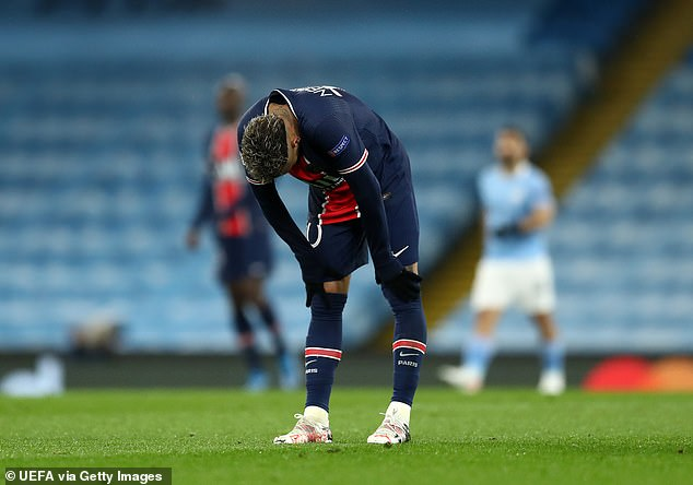 The Brazilian has failed to make a consistent impact in PSG's Champions League knockout ties