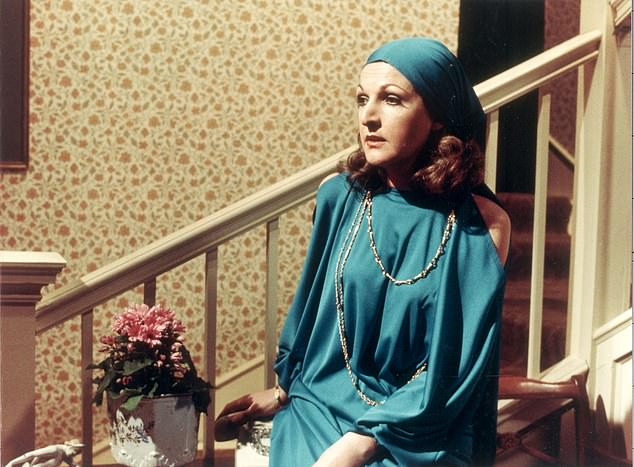 A classic: Created by writers John Esmonde and Bob Larbey, The Good Life followed disillusioned designer Tom Good (pictured: Penelope in character as Margo)