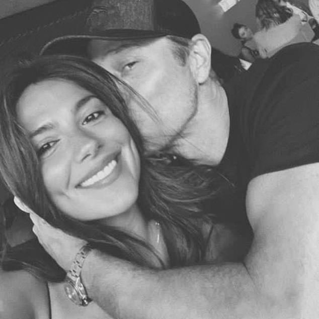 Lovers:The actress recently shared a black-and-white photo to Instagram in which she embraced her Hollywood agent beau