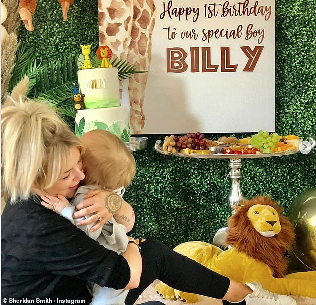 Becoming a mother has been the most rewarding job in the world: Sheridan recently celebrated her son Billy's first birthday at home with his close family