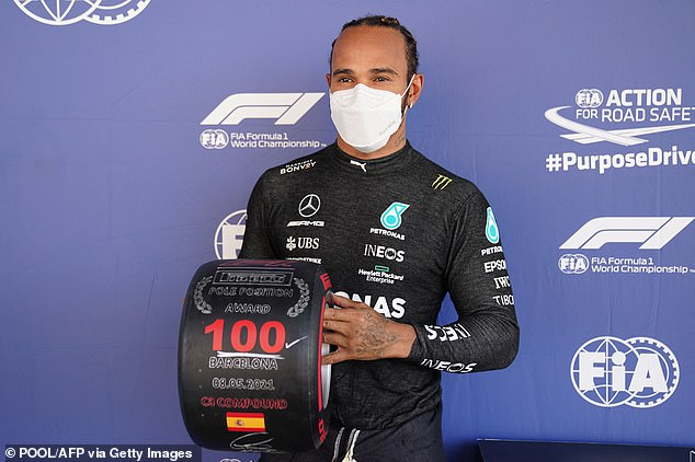 Lewis Hamilton took his 100th pole position of his Formula One career at the Spanish GP