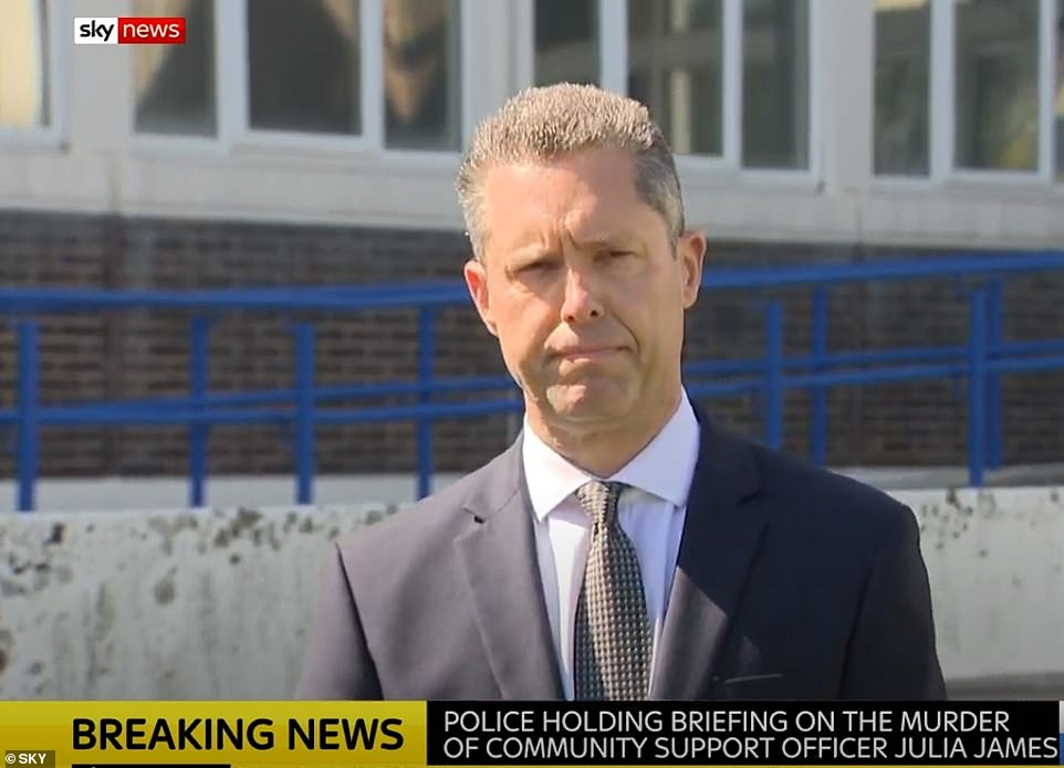 Kent Police's Assistant Chief Constable Tom Richards held a press briefing (pictured)