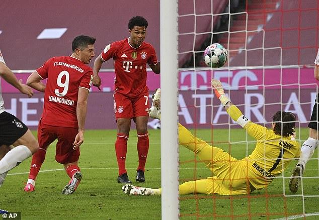 Lewandowski is one short of Gerd Muller's imposing record of 40 league goals in a season