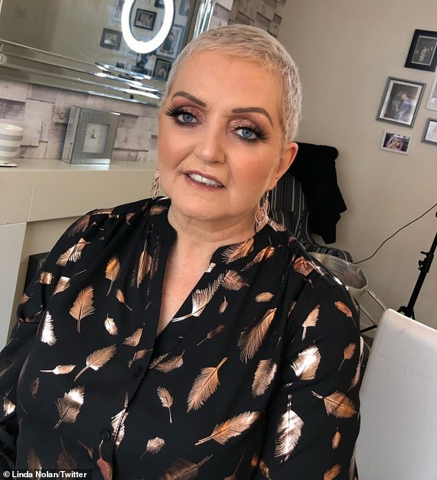 Brave:Linda Nolan, 62, has revealed she performed to a 1000-strong crowd hours after being diagnosed with breast cancer in 2005