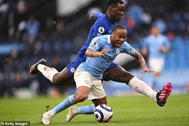 Guardiola was incensed that Raheem Sterling was not given a penalty for a Kurt Zouma foul