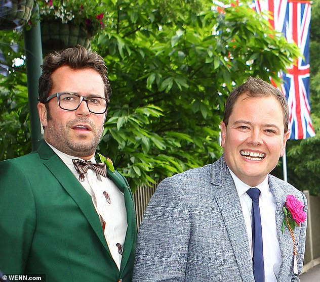 Sweet: The presenter tied the knot with longtime partner Paul in a ceremony presided over by Adele in the backyard of her home in Los Angeles (pictured in 2013)