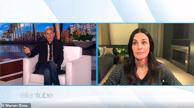 """New to her: Ellen asked if there were any things she couldn't remember.  """"Oh my God, I have the worst memory.  It all happened that I forgot, '' Courteney joked, before calling it `` really fun ''"""