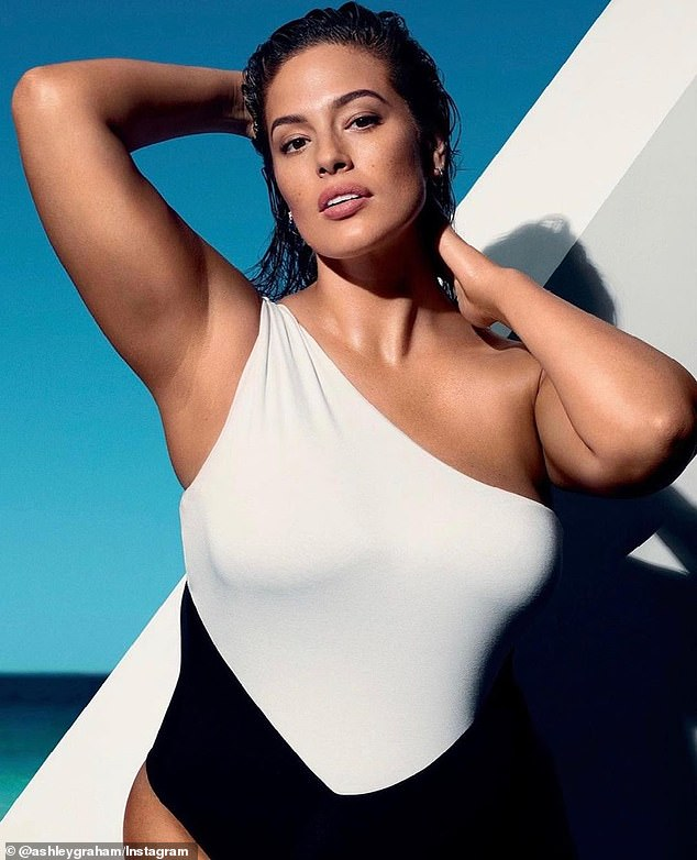 Veto: Ashley Graham, 33, (pictured) revealed to Sunday Life this weekend that she will never be caught dead wearing white leggings