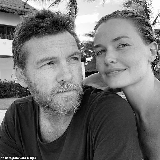 Family: Lara and Sam, who started dating in 2013 and secretly married in 2014, returned to Australia with their children in January after living in the United States for a few years.