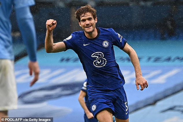 Marcos Alonso scored the winner in injury time to move Chelsea up to third in the table