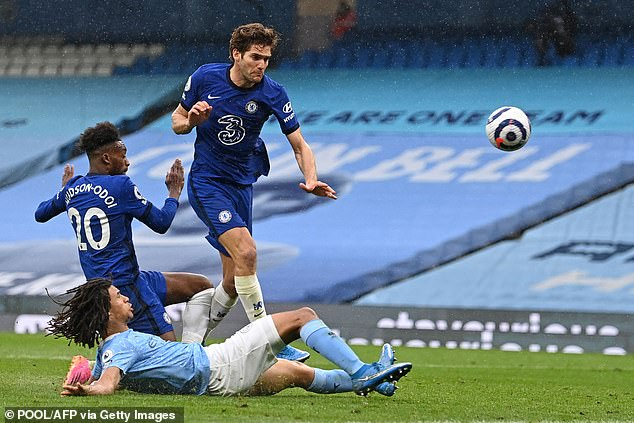 Marcos Alonso netted a late winner for Chelsea against Manchester City on Saturday