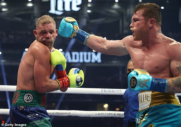 Canelo Alvarez quickly asserted his dominance as he landed some huge shots on the Briton