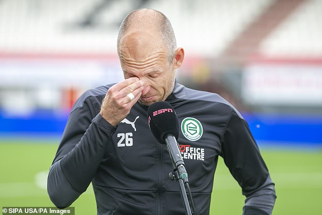 Arjen Robben wiped away the tears as he discussed his injury hell over the last seven months