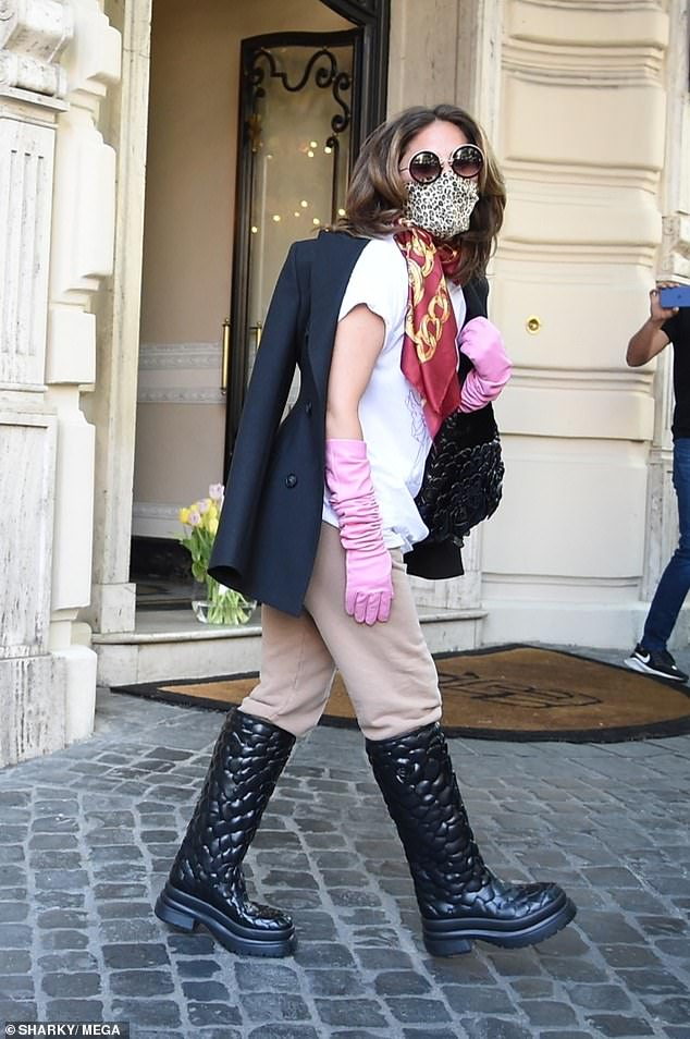 She leaves: Gaga has been in Rome for two months playing her role of Patrizia Reggiani in the film