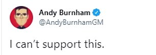 Andy Burnham piled more pressure on Sir Keir, saying he 'can't support' Angela Rayner's firing