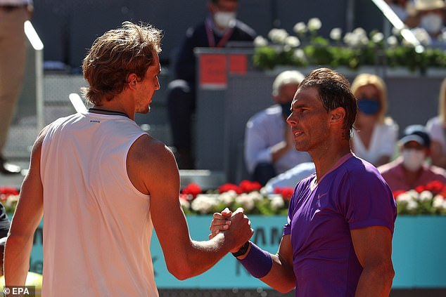 Zverev beat Rafa Nadal earlier in the week to lay down a marker ahead of the French Open