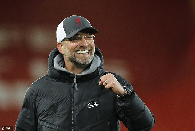 Jurgen Klopp looked delighted after watching the midfielder seal the three points late on
